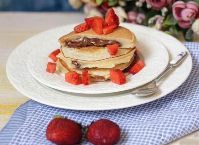 pancake bơ đậu phộng