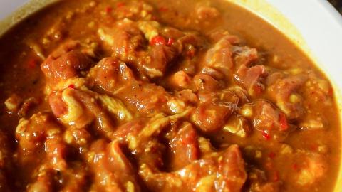 Thịt xiên nướng cà ri